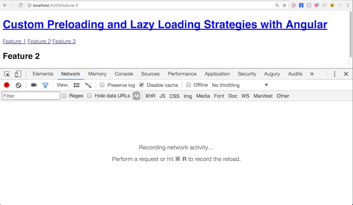 Angular Lazy Loading with custom loading strategy