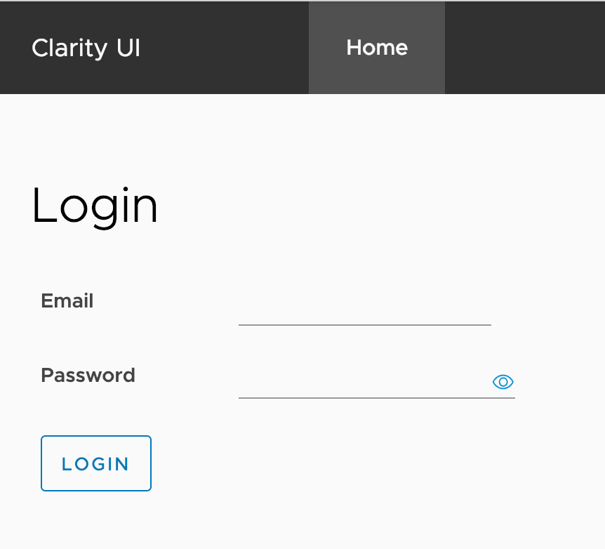 Simple Angular and Clarity UI Form