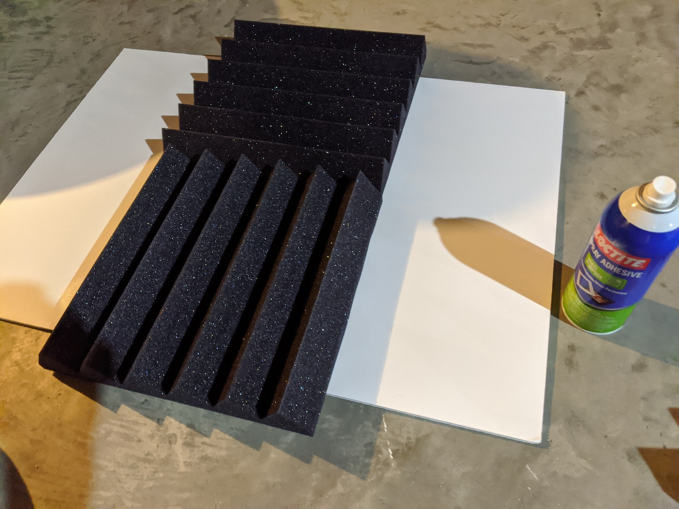 Acoustic Foam Panel Glue Poster Board