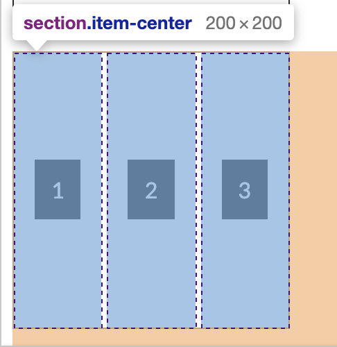 Inline block item horizontally centered with CSS Grid